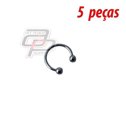 Piercing Circular Barbell (Ferradura) - 12mm - Espessura 1.2  (5 peças)