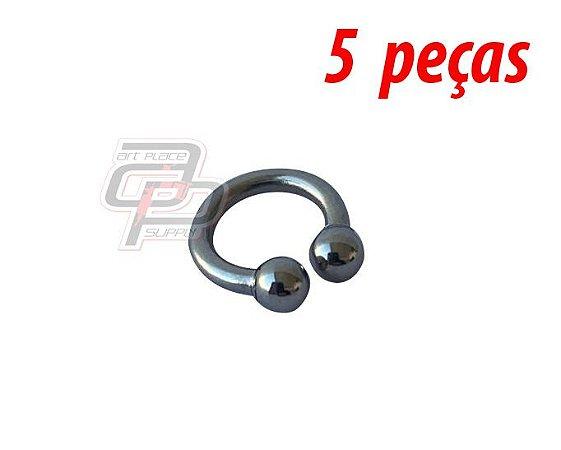 Piercing Circular Barbell (Ferradura) - 10mm - Espessura 1.6  (5 peças)