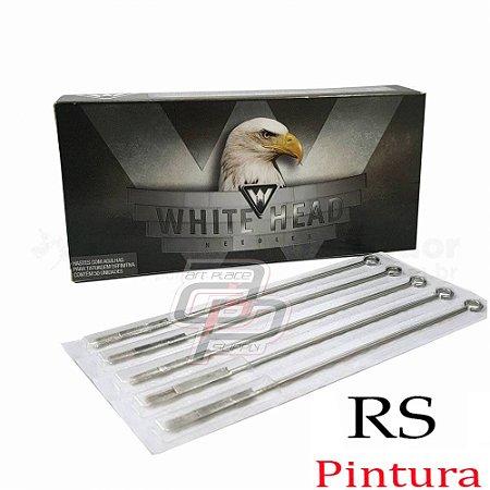 Agulhas White Head Bucha / Round Shader - Caixa com 50 unidades