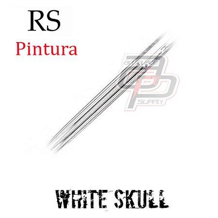 Agulhas White Skull Bucha / Round Shader - 1 Unidade