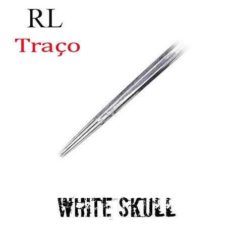 Agulhas White Skull Traço / Round Liner - 1 Unidade