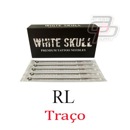 Agulhas White Skull  Traço  / Round Liner -  Caixa com 50 Unidades