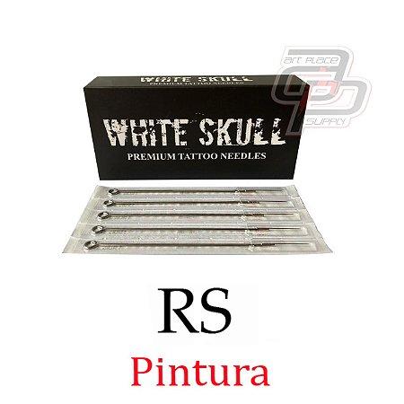 Agulhas White Skull Bucha / Round Shader - Caixa com 50 unidades