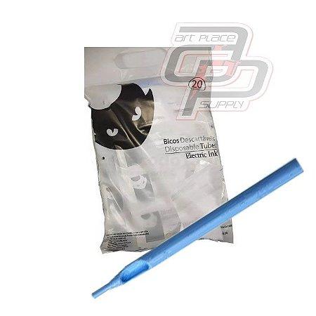 Long Tip Descartável Traço  / Round Liner - Saco com 20 Unidadeas Electric Ink