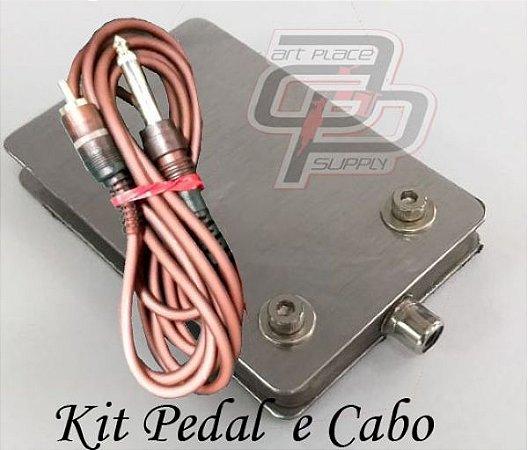 Kit Pedal e Cabo RCA - JJ Equipamentos