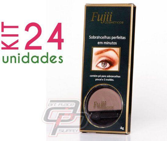 KIt Sombra para Sobrancelha com 24 unidades(4gr) -  Fujii