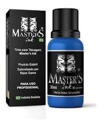 Tinta Master Ink Azul Medio Tattoo 30ml Tatuagem