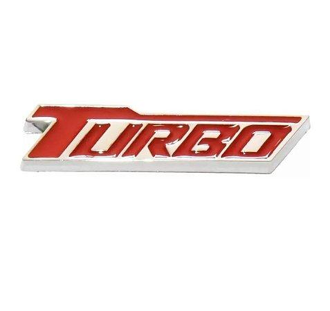 Emblema Turbo Chevrolet Cruze Tampa Traseira Porta-malas - Vermelho