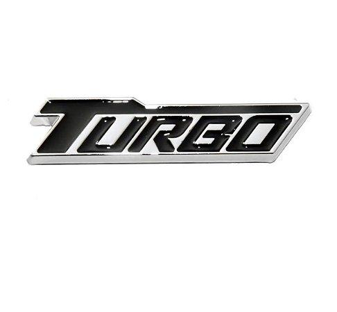 Emblema Turbo Chevrolet Cruze Tampa Traseira Porta-malas - Preto