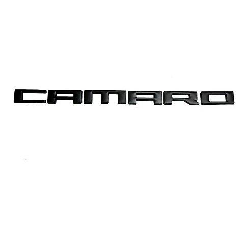 Emblema Gm Chevrolet Camaro SS 2010 a 2015 Paralama Lateral - Preto
