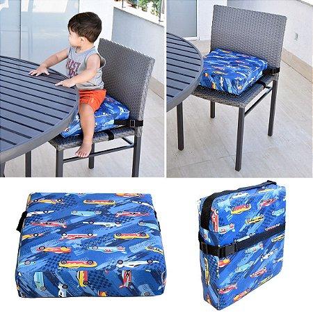 Assento Almofada de Elevação Infantil Criança - Estampa Carrinhos