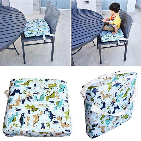 Assento Almofada de Elevação Infantil Criança - Estampa Dinossauro