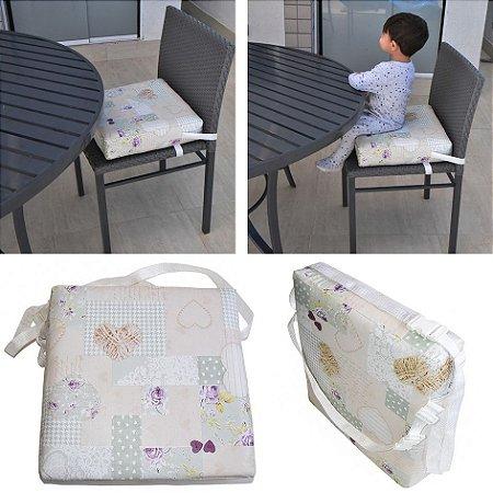 Assento Almofada de Elevação Infantil Criança - Estampa Coração