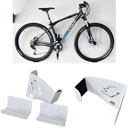 Suporte De Parede Para Bicicleta Mtb Speed Mountain Bike Sterk Branco