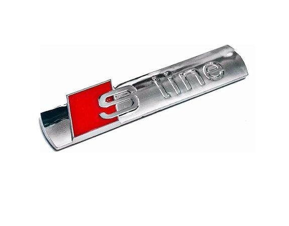 Emblema Audi S Line S-line Cromado para Tampa Traseira Porta-malas