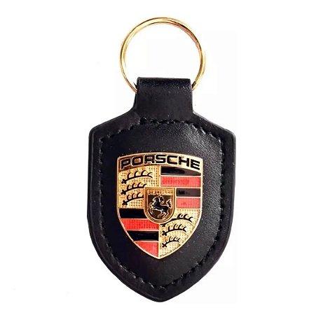 Chaveiro Automotivo de Couro Porsche - Preto
