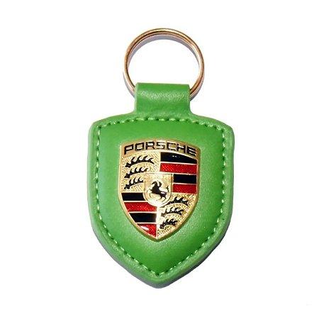 Chaveiro Automotivo de Couro Porsche - Verde