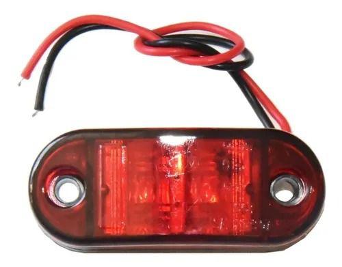 Lanterna Lateral Led Caminhão Carreta Pisca Seta Baú Vermelha