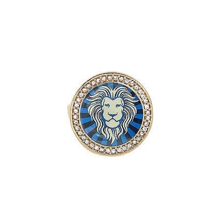 Anel Leão Lupa Azul