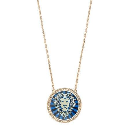 Colar Leão Lupa Azul M