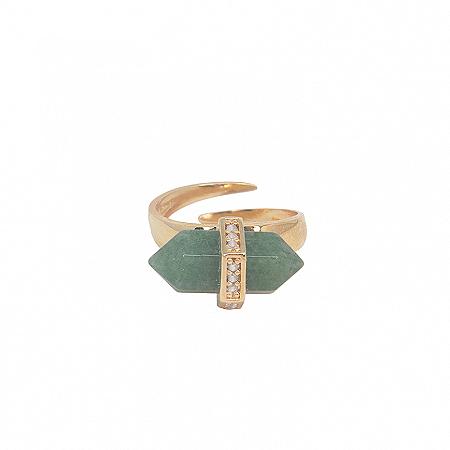 Aliança Prisma Quartzo Verde