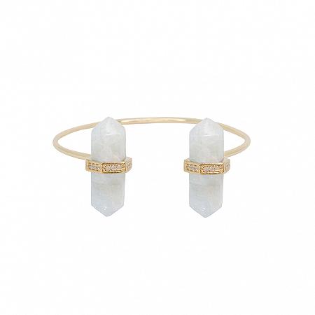 Bracelete Prisma Duplo Água Marinha