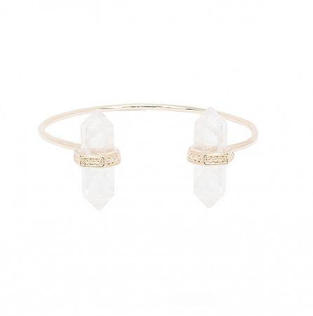 Bracelete Prisma Duplo Cristal de Quartzo