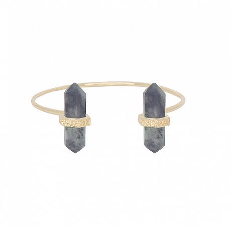 Bracelete Prisma Duplo Esmeralda