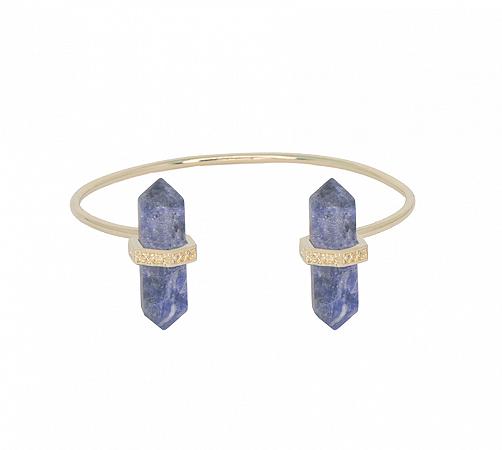 Bracelete Prisma Duplo Sodalita