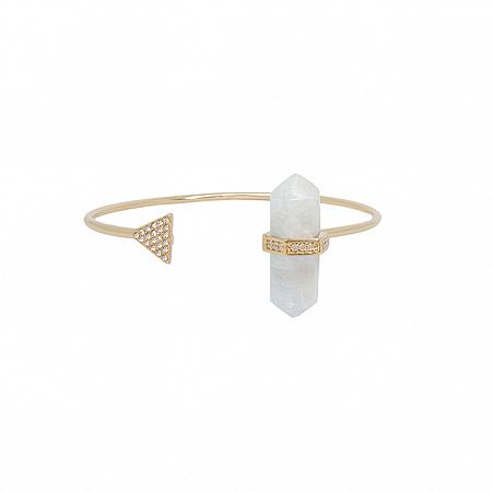 Bracelete Prisma Triângulo Água Marinha