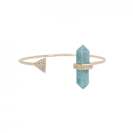 Bracelete Prisma Triângulo Amazonita