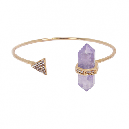 Bracelete Prisma Triângulo Ametista