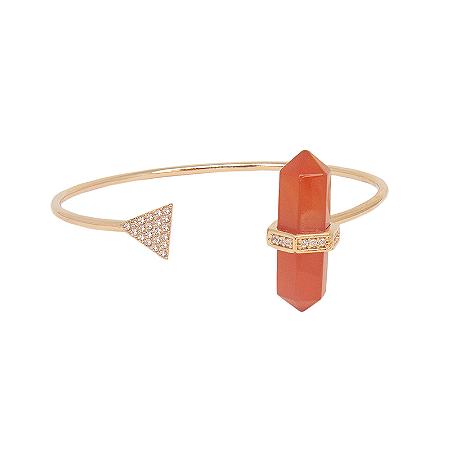 Bracelete Prisma Triângulo Cornalina