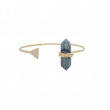 Bracelete Prisma Triângulo Esmeralda