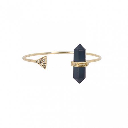 Bracelete Prisma Triângulo Obsidiana