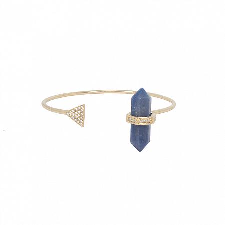 Bracelete Prisma Triângulo Quartzo Azul