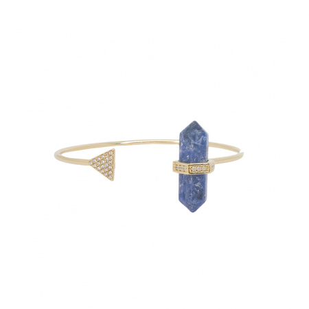 Bracelete Prisma Triângulo Sodalita