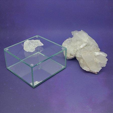 Caixa de Pedra Bruta G Cristal de Quartzo