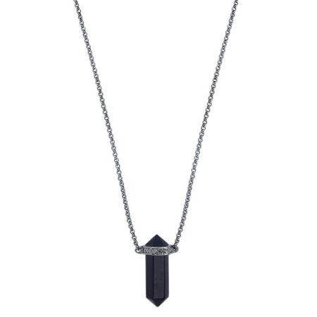 Colar Prisma Obsidiana Unissex