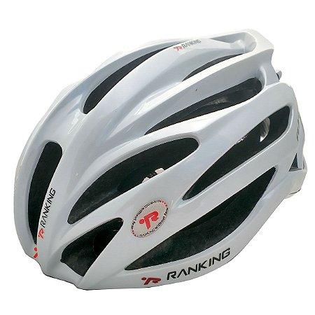 Capacete Bike Ranking R91 Feather Branco Perolado Tamanho G