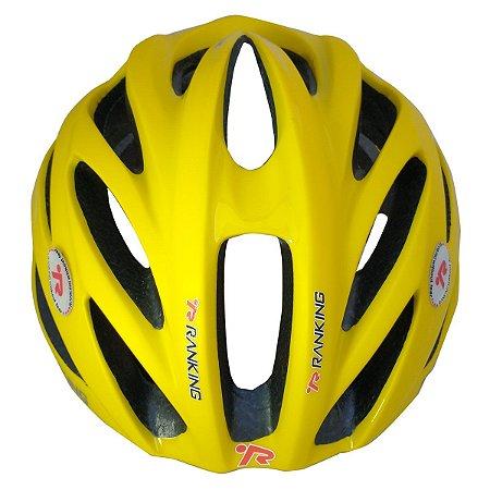 Capacete Bike Ranking R91 Feather Amarelo Tamanho M