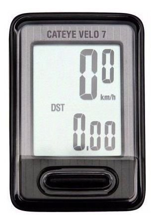 Ciclocomputador Cateye Velo 7 Vl520 Velocimetro Preto