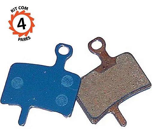 Pastilha Freio Disco Orgânica Diatech Ds-32 Kit 4 Pares