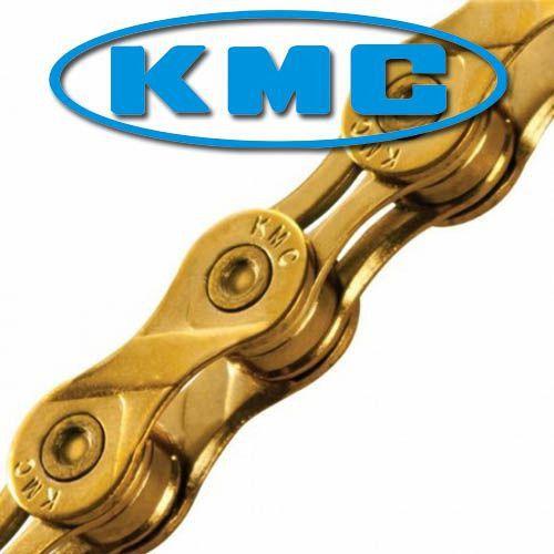 Corrente Kmc X-10l Ti-n Dourado 10v Semi-Vazada