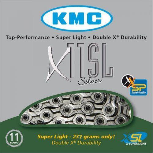 Corrente Kmc X-11sl Prateado 11v Vazado 1/2x11/128 116l