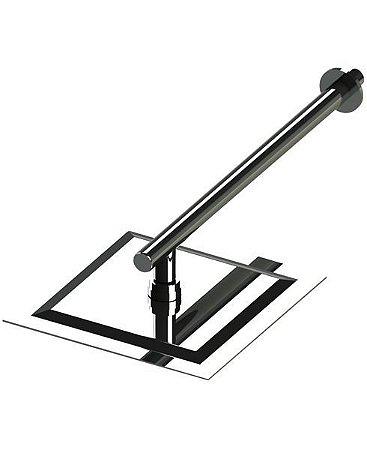 Ducha Cascata 25x25 cm em Aço Inox
