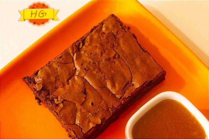 Brownie de Chocolate com Calda de Caramelo - Cx com dois pedaços 80g e 30g de calda de caramelo
