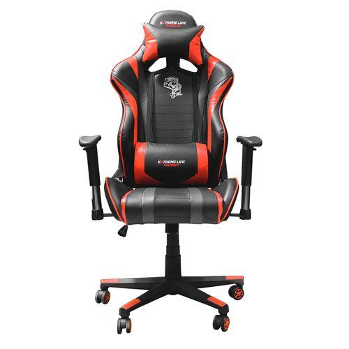Cadeira Gamer Elg Black Hawk Verm/Pto