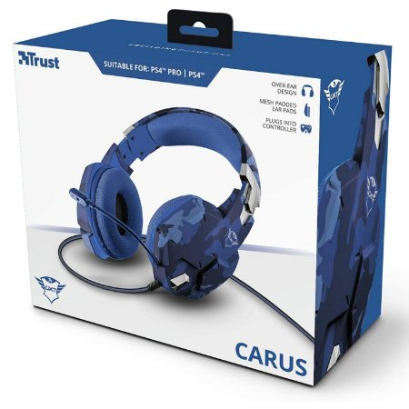 Headset Gamer Trust GXT 322B Carus Blue Ps4/Ps5/Xbox One/Pc