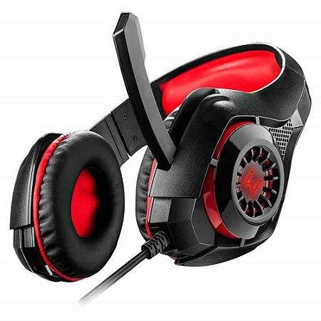 Headset Gamer Warrior Rama P3+USB Stereo Adaptador P2 LED PH219